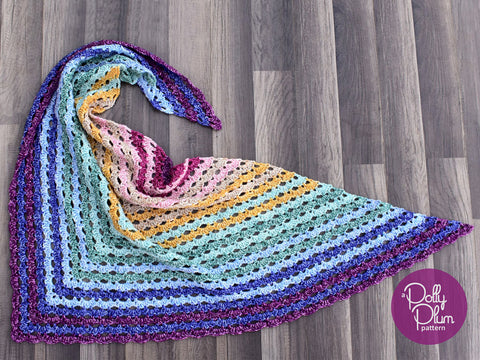 Rio Arriba Shawl by Polly Plum in Stylecraft Batik
