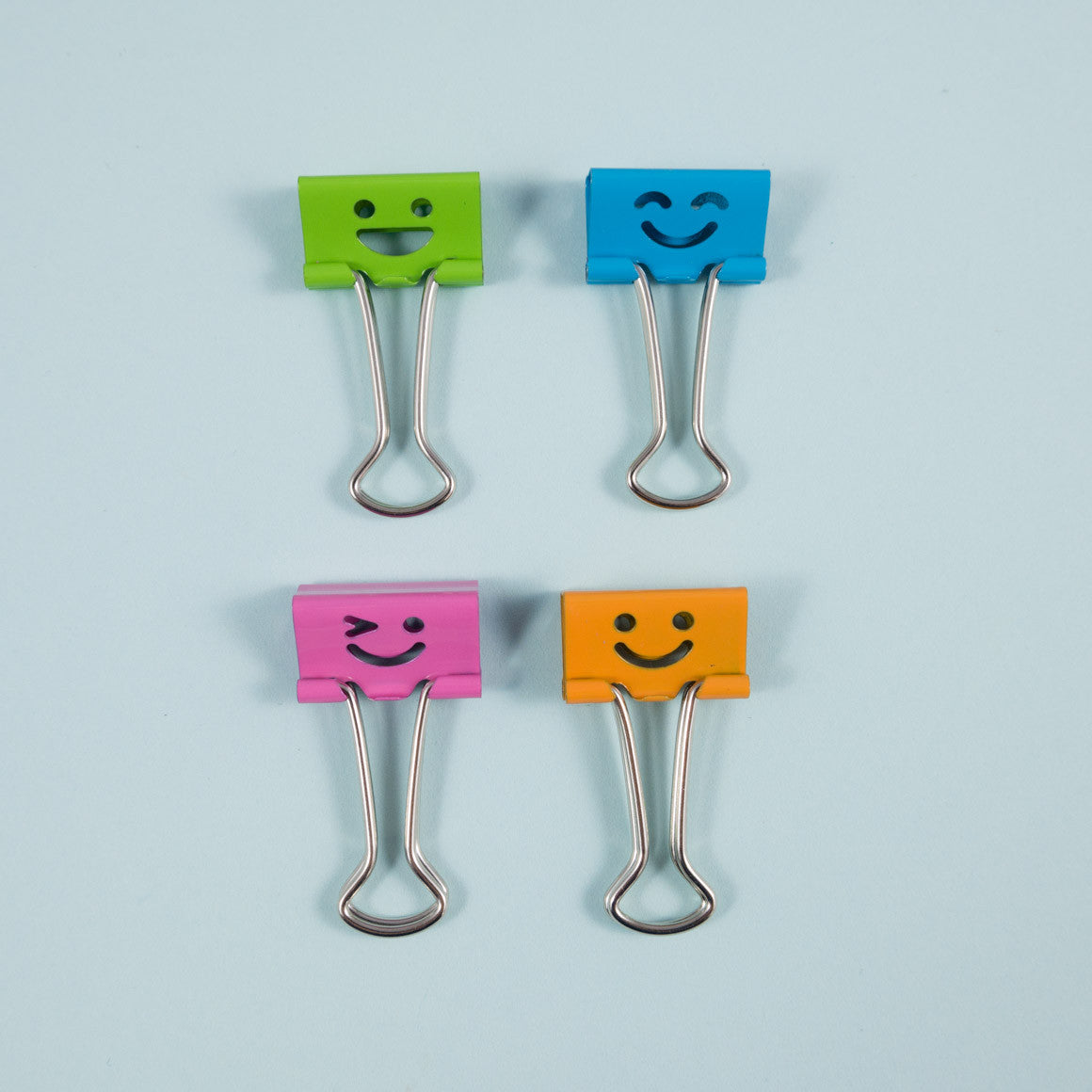 Smiling Faces Mini Binder Clips