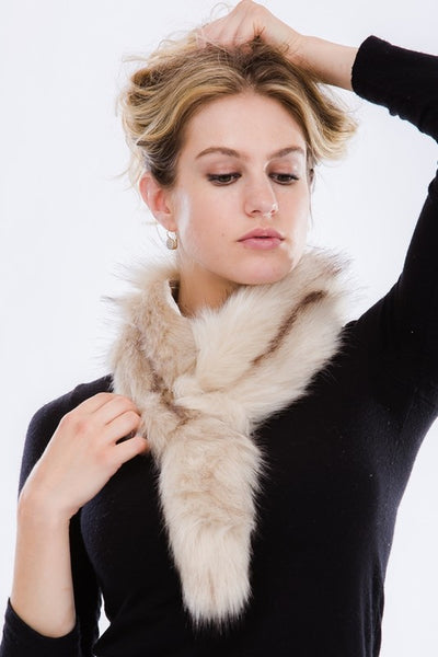 """Ole Foxy Lady"" faux Fox Fur Stole Scarf"