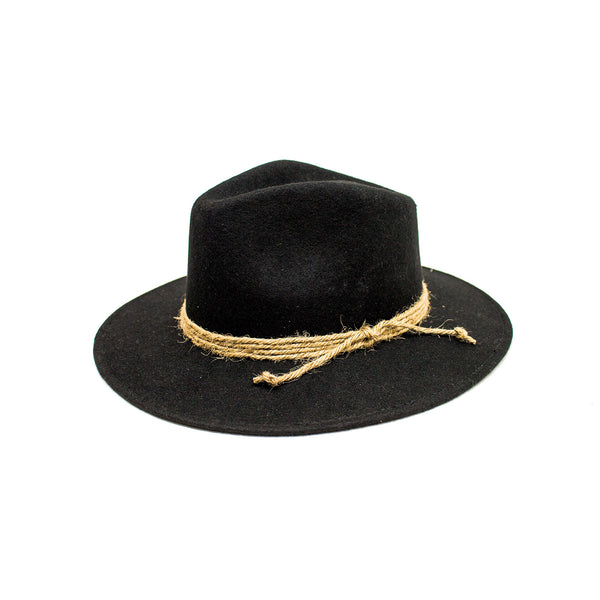 """Ole Alfred"" Peter Grimm Black Western Boho Cowgirl Hat"