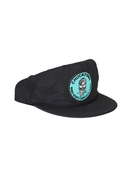 Pirate Patch Unstructured Snapback - Black