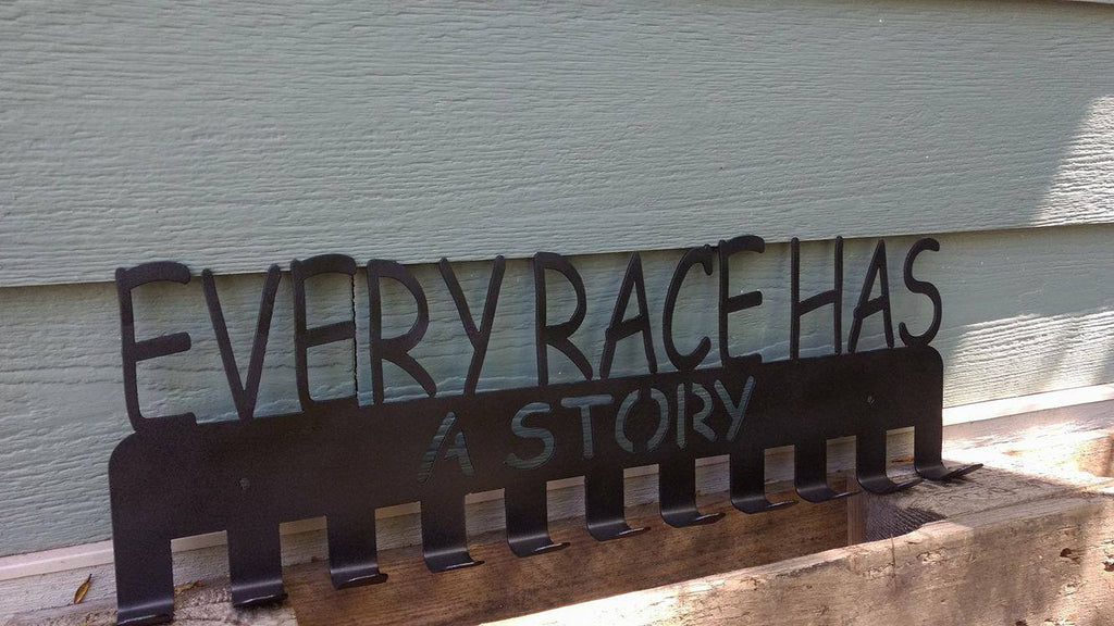 """Every Race Has A Story"" Running Medal Display Holder"