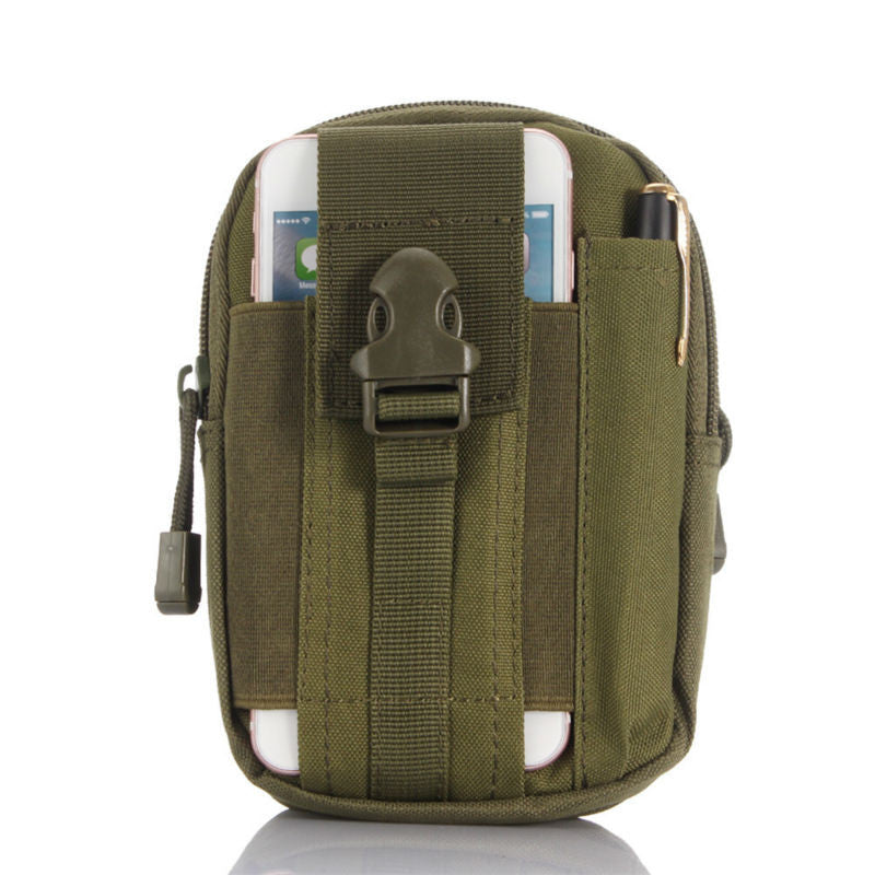Nylon Outdoor Cell Phone EDC Pouch with Molle Hip Waist Belt