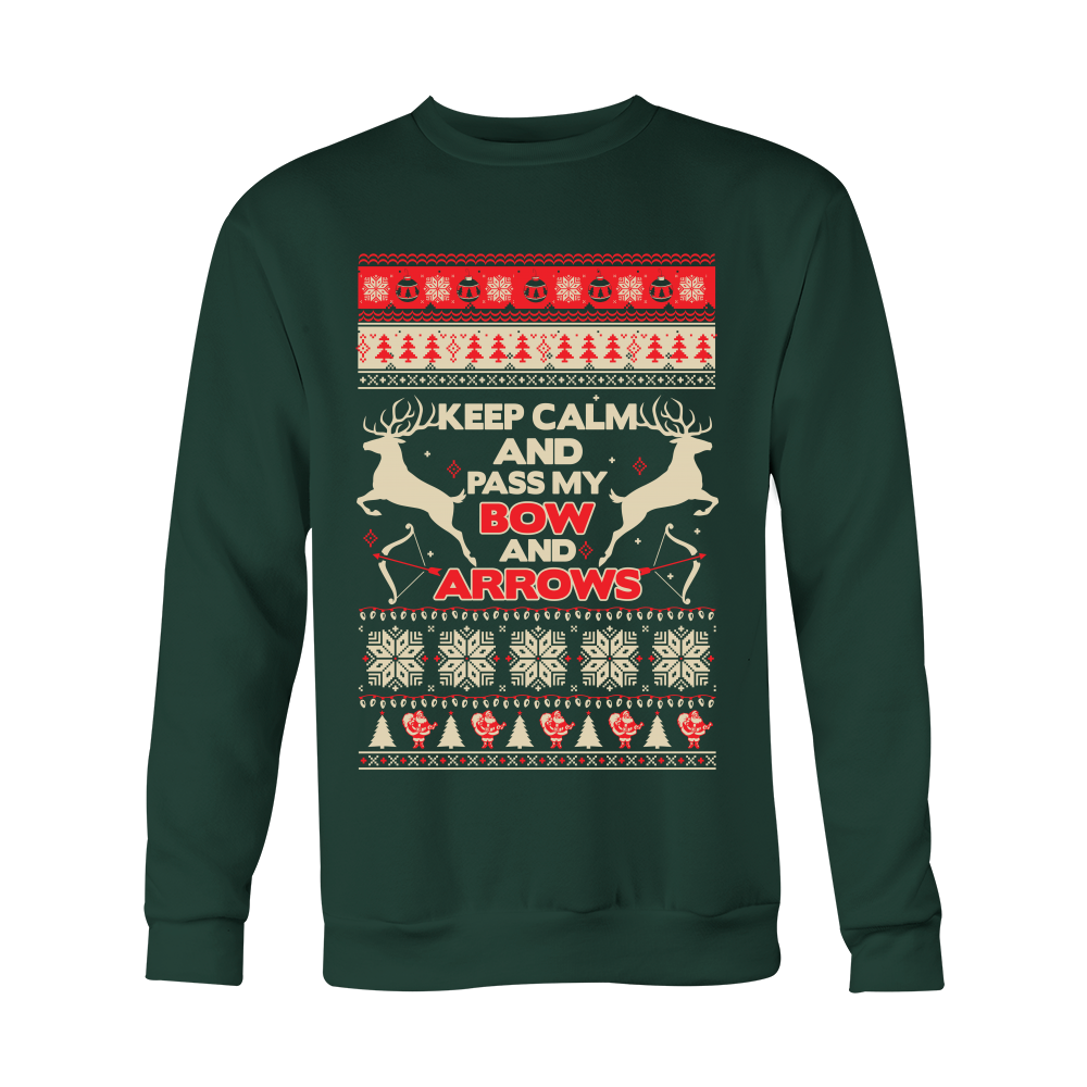 """Keep Calm"" Archery Christmas Sweater"