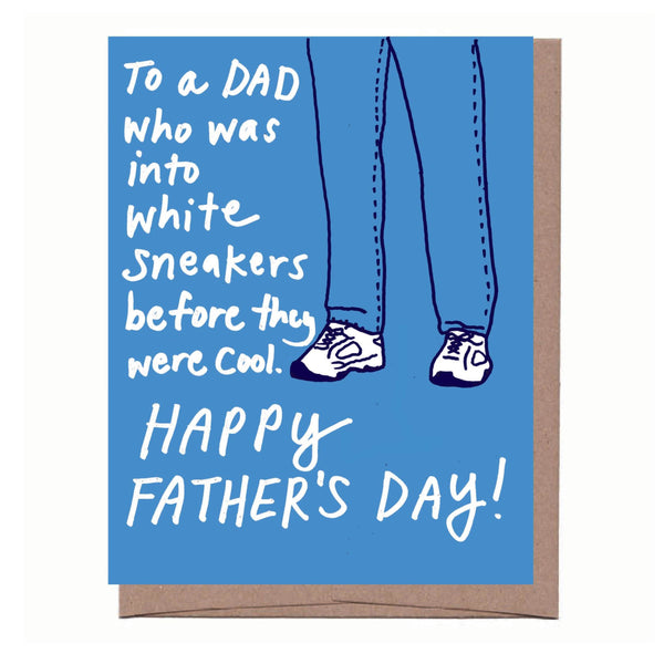 White Sneakers Father's Day Card
