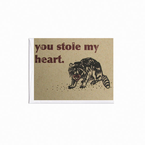 Thieving Raccoon Love Note