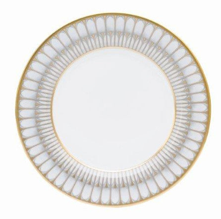 Arcades Grey Salad / Dessert Plate (in Gold or Platinum)