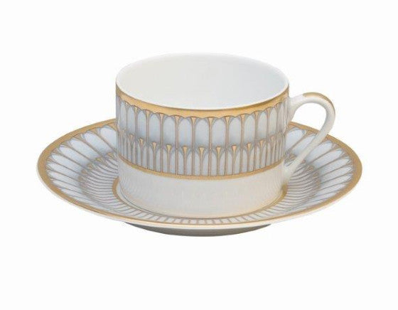 Arcades Grey Cup & Saucer (in Gold or Platinum)