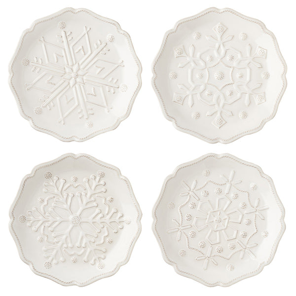 Berry & Thread Snowfall Party Plate - set of 4