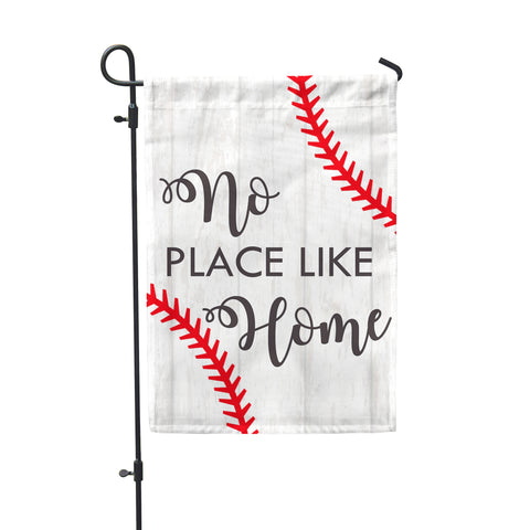 "Baseball Home Garden Flag 12"" x 18"" - Double Sided - Second East"