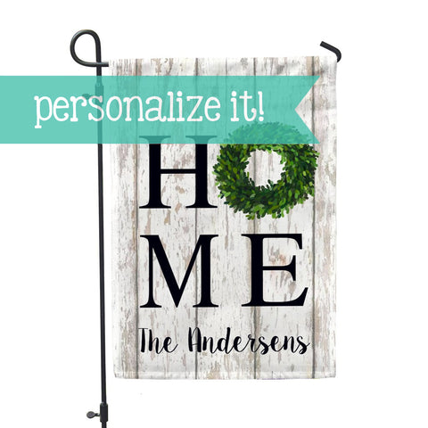 "Personalized Garden Flag - Home Boxwood Custom Yard Flag - 12"" x 18"" - Second East"