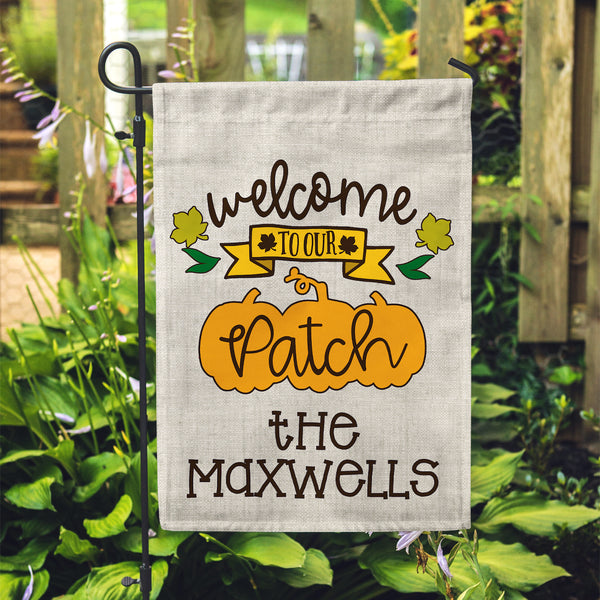 "Personalized Garden Flag - Our Patch Custom Home Flag - 12"" x 18"" - Second East"