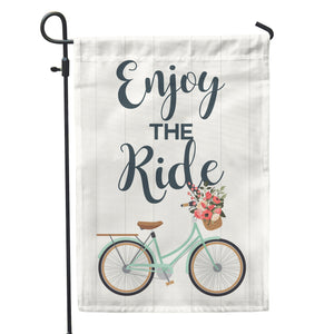 "Enjoy the Ride Garden Flag 12"" x 18"" - Double Sided - Second East"