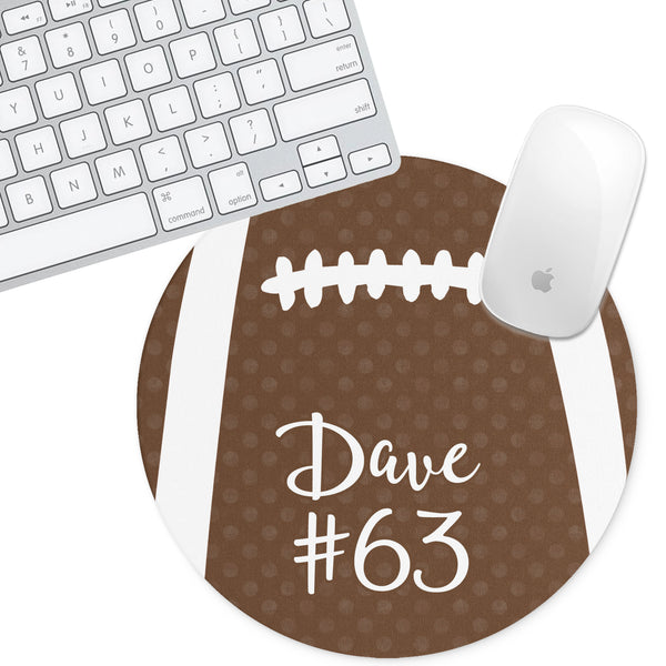 Personalized Round Mouse Pad - Football - Second East