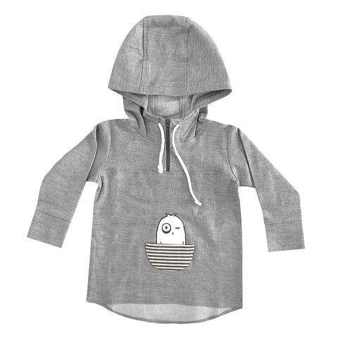 Denim Pullover Hoodie - Grey - LIMITED EDITION