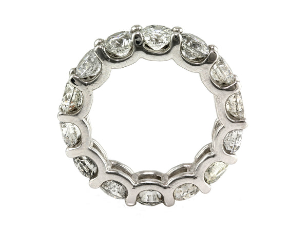 8.00ct Floating Round Diamond in 14K White Gold Eternity Band Ring