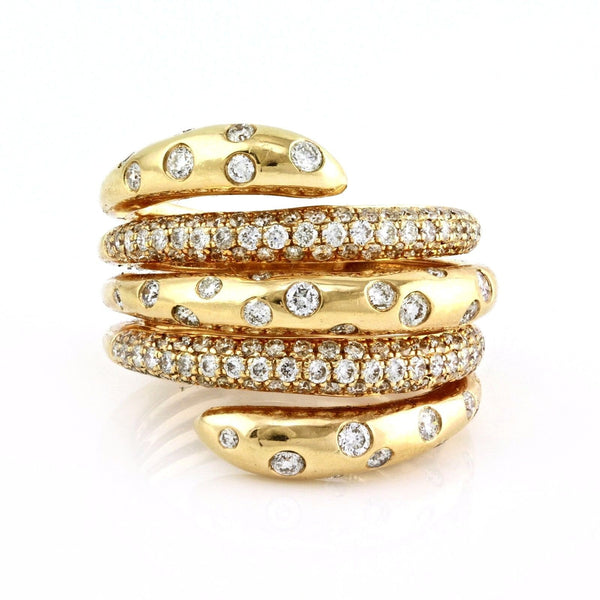 1.41ct Round Diamonds in 14K Gold Wrap Anniversary Ring