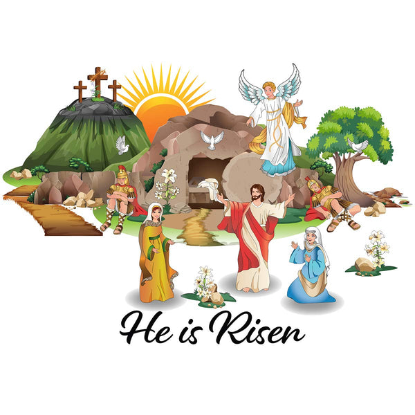 Resurrection Easter Window Clings Holiday Decorations