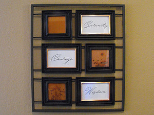 Serenity, Courage, Wisdom Framed Copper Wall Art