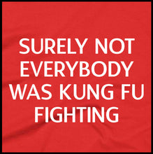 Load image into Gallery viewer, surely not everyone was kung fu fighting, t shirt, printed shirt,