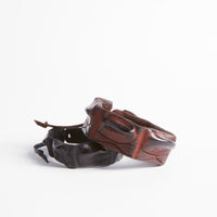 Crocodile Leather Thin Wristband