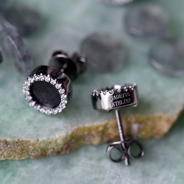 Jadeite Atelier : Black Jade Earrings