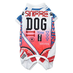 Sniffie Dog Fashion Dog Clothes Cycling Sportswear with Crystals