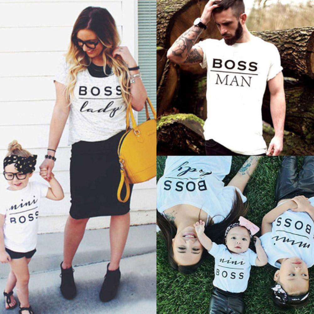BOSS Family White Matching Tees (MRK X)
