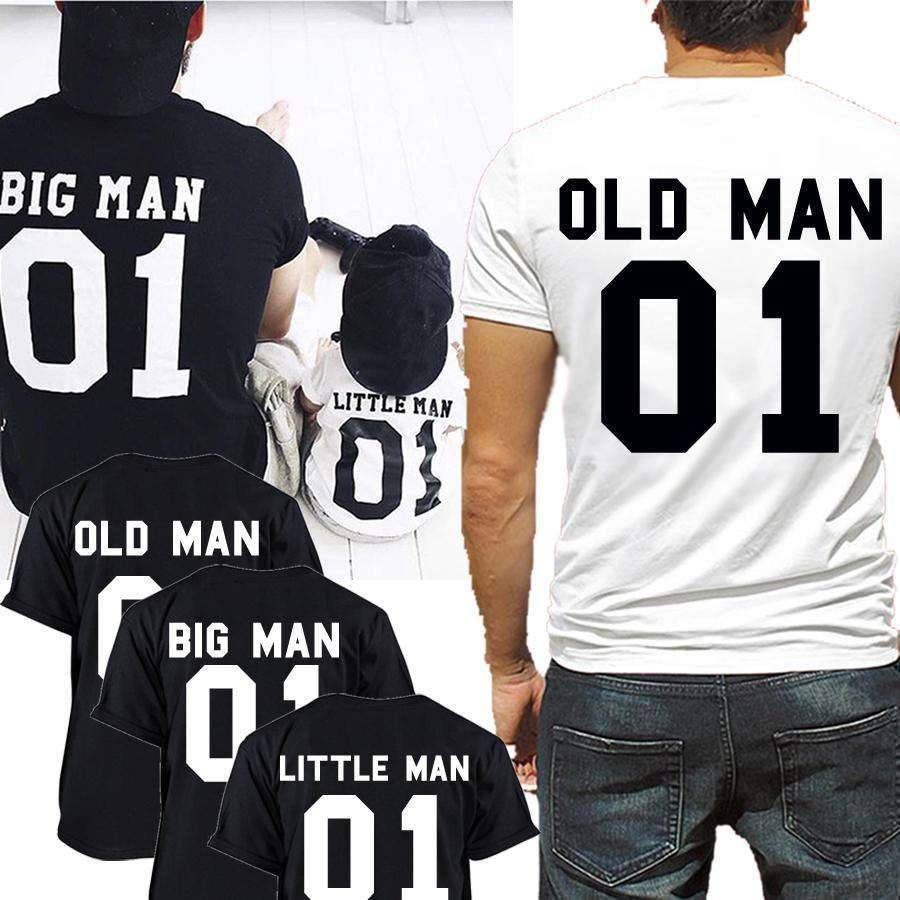 Choose Your Number Big Man, Little & Old Man Grandpa Match Tees (MRK X)