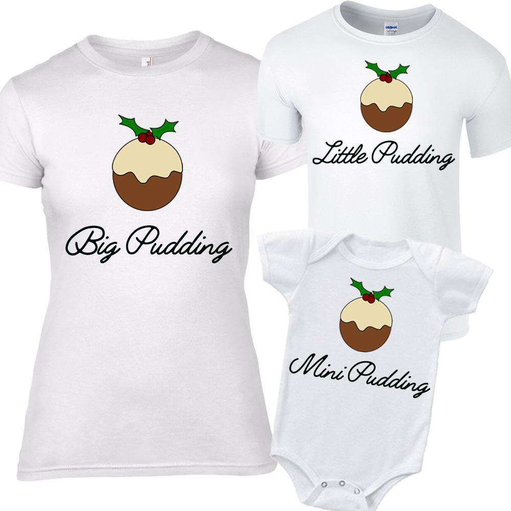 Big Pudding/Little Pudding Matching Tee/Bodysuits (MRK X)