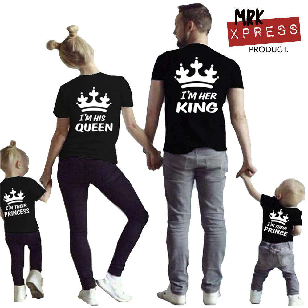 His/Hers/Theirs Family Black Matching Tees (MRK X)