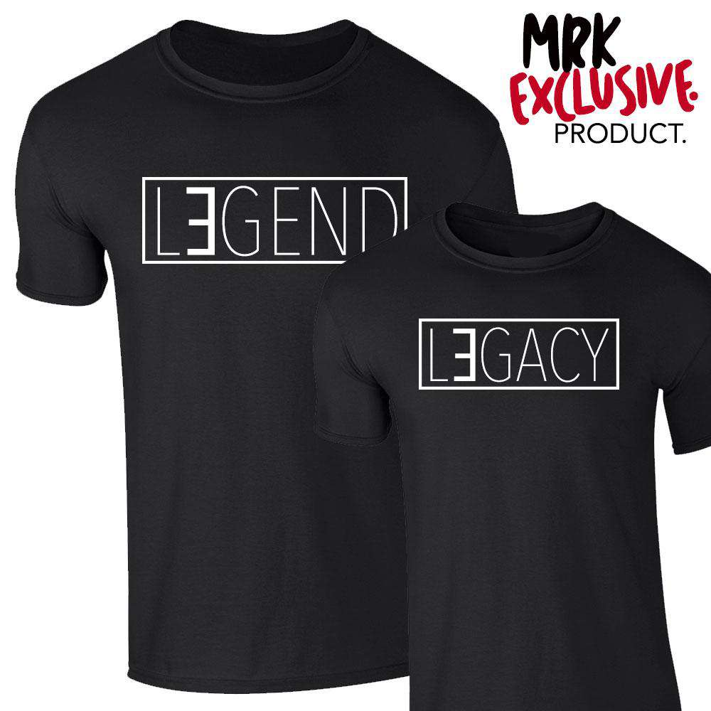 Legend/Legacy Matching Tees - Black - (MRK X)