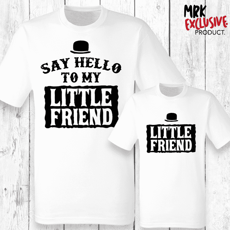 My Little Friend Matching T-Shirts - White (MRK X)