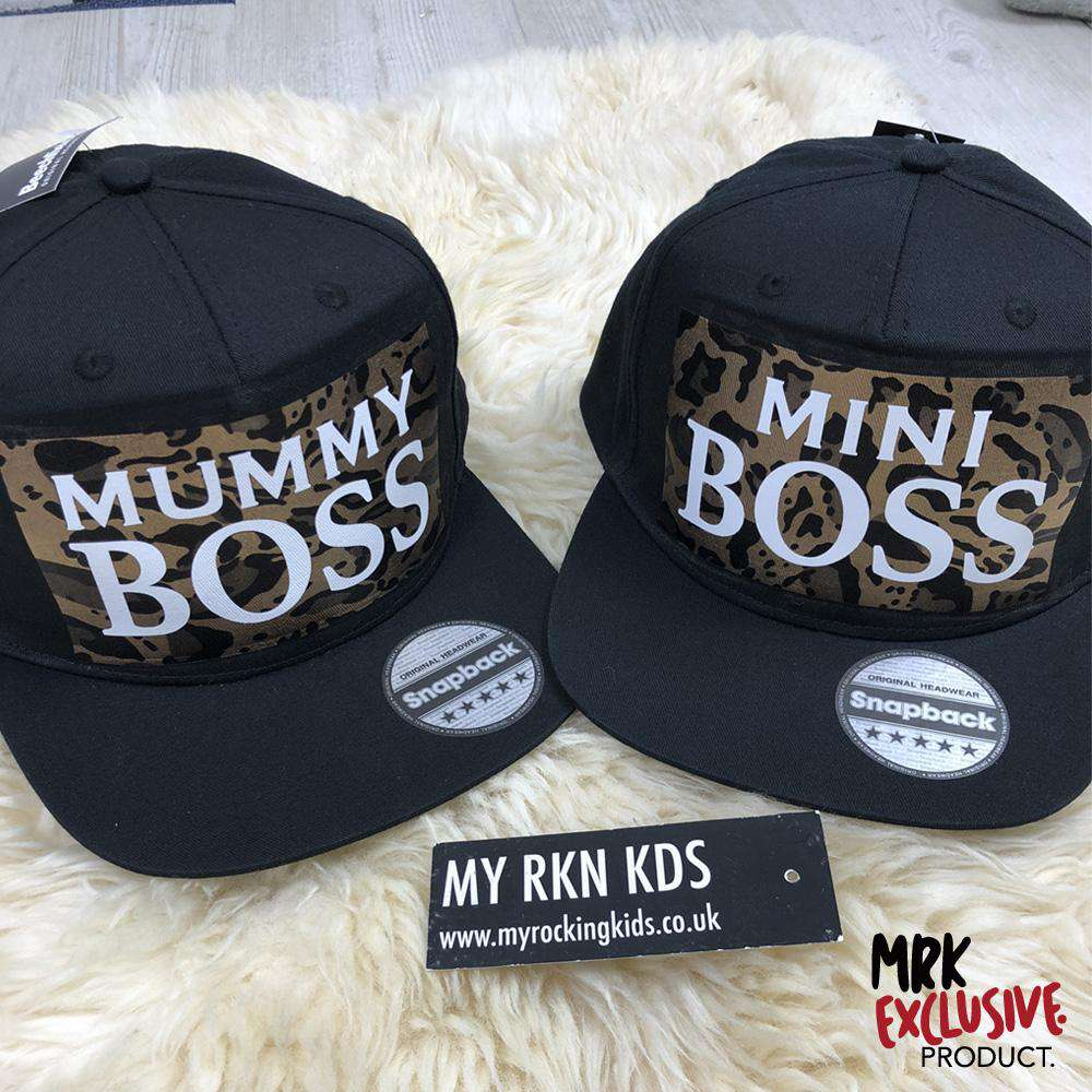 Mummy & Mini Boss Leopard Matching Caps (MRK X)