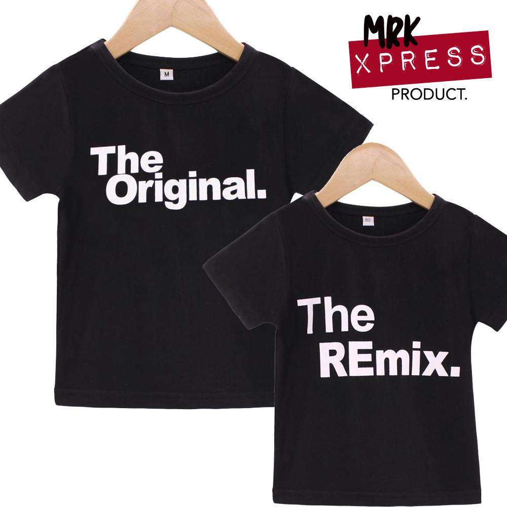 Original/Remix Family Matching Tees - Black -  (MRK X)