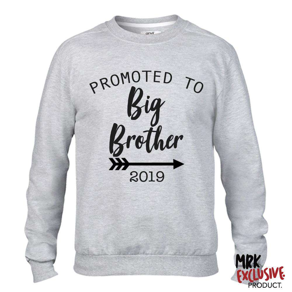 Promoted to Big Bro 2019 Grey Sweater (MRK X)