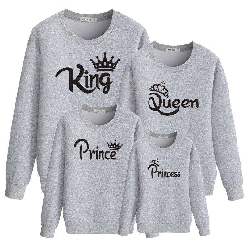 Our Royal Family Matching Crew Sweaters - Grey (MRK X)
