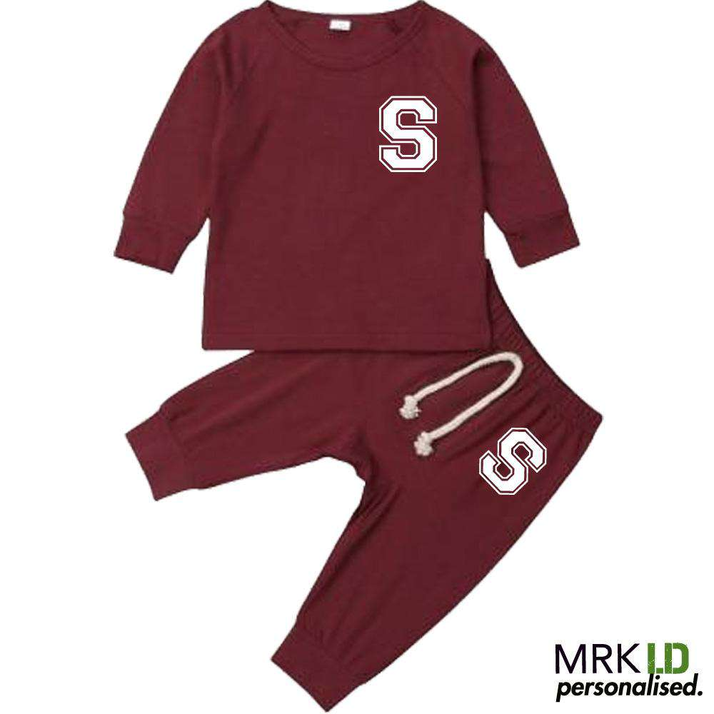 Personalised Initial Infants Summer Tracksuit Set (0-18 Mnths) (MRK X)