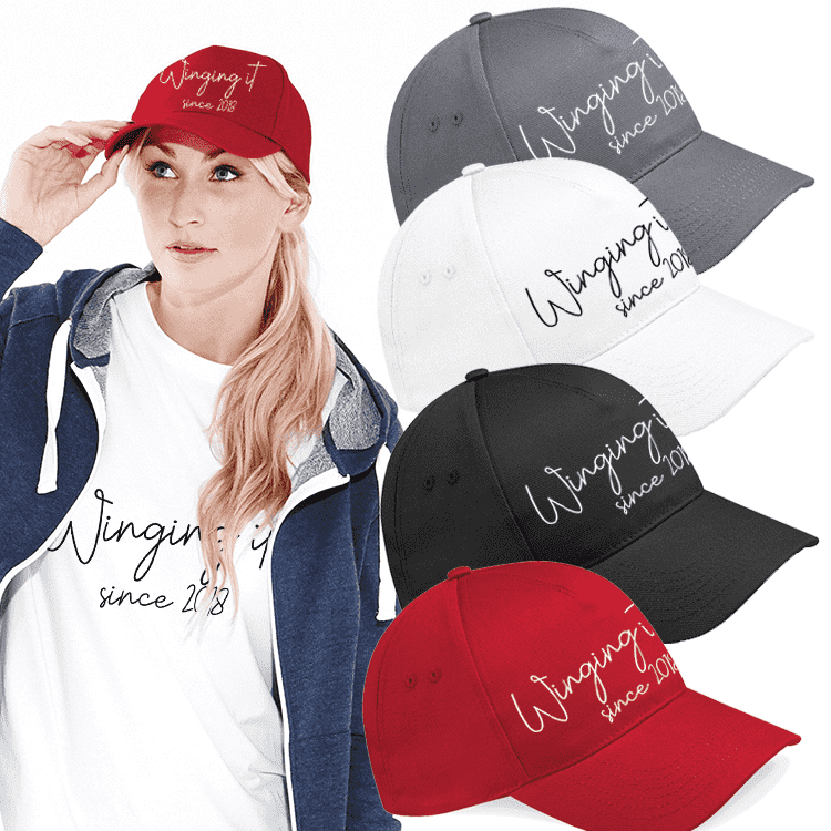 Personalised Winging It - 5 Pancel Classic Cap (MRK X)