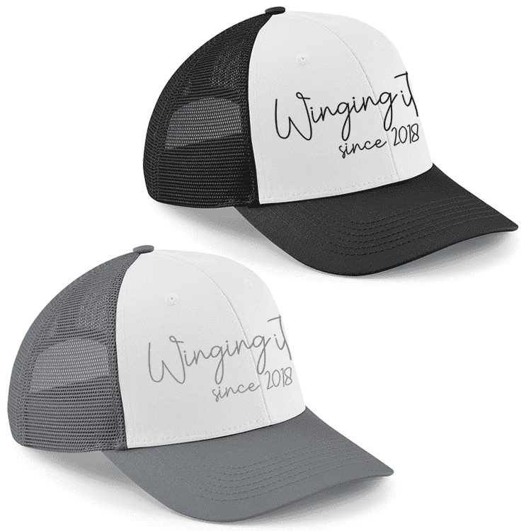 Personalised Winging It - Trucker Cap (MRK X)