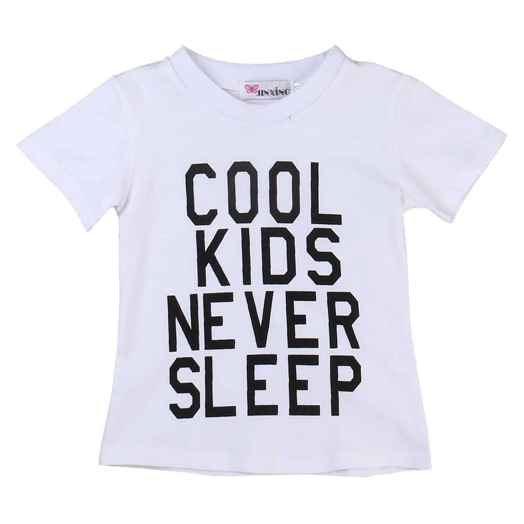 Cool Kids Never Sleep T-Shirt (0-8 Years) (MRK X)