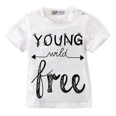 Young Wild Free White T-Shirt (2-13 Years) (MRK X)