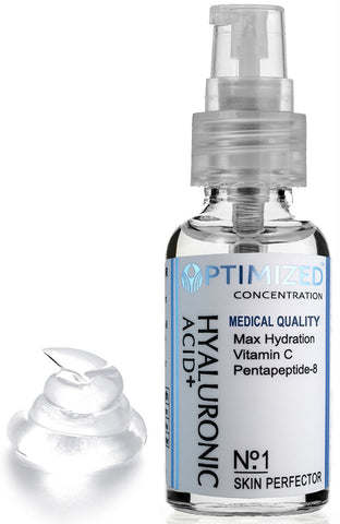 Nighttime Anti Aging Vitamin C Serum with Hyaluronic Acid & Pentapeptide Face Perfector Outperforms ALL! Maximum Percentage Vit C Doctors Say Look Years Younger with Topical Vitamin-C