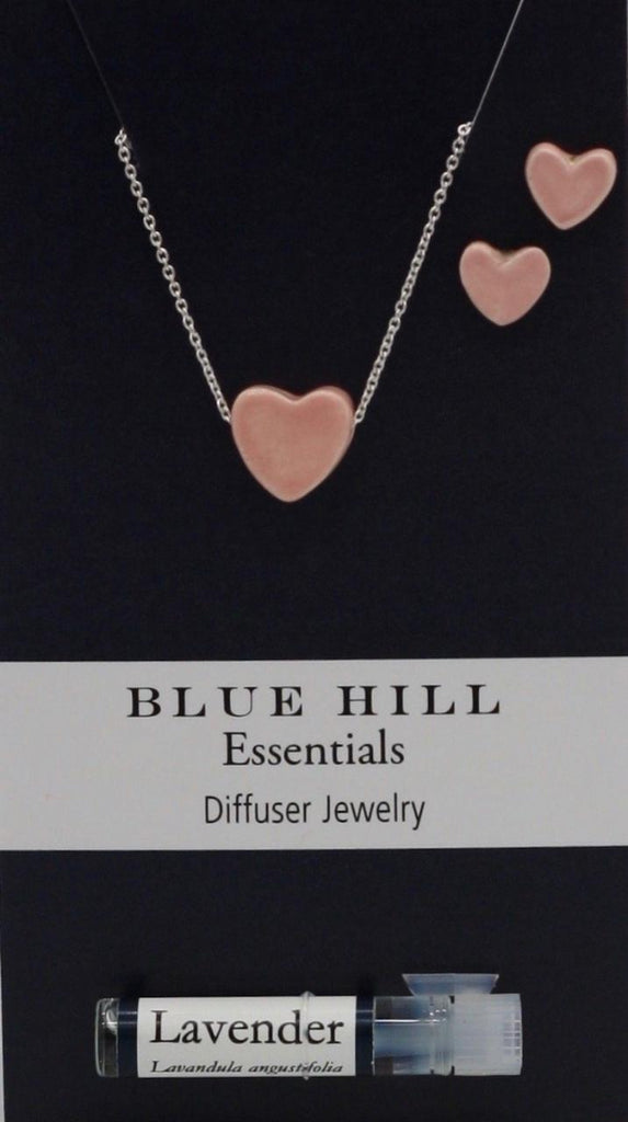 Pink Tiny Hearts Essential Oil Necklace and Earrings