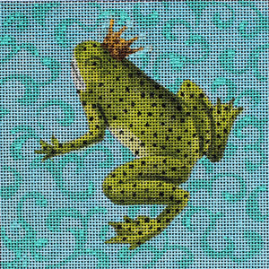 Frog with Crown - BeStitched Needlepoint