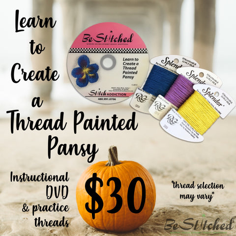 Learn to Create a Thread Painted Pansy DVD & Fibers