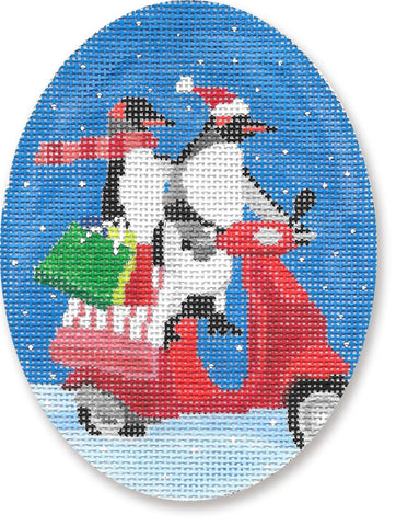 Penguins on Scooter