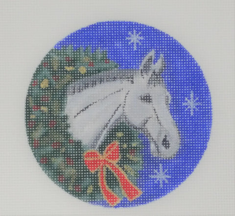 White Horse in Wreath