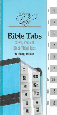 BIBLE TABS SILVER VERTICAL