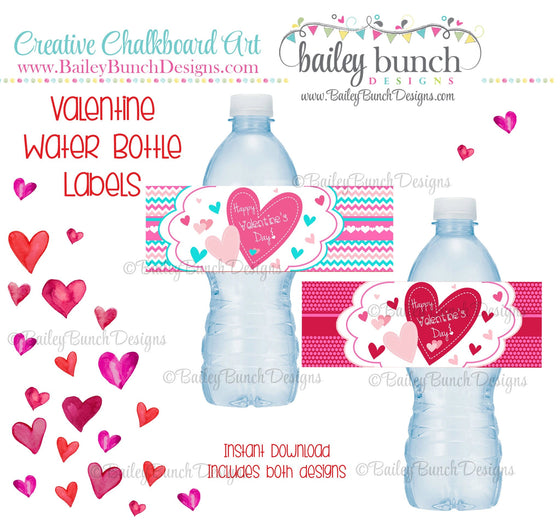 Valentine Water Bottle Labels, Valentines IDVDAYWATER0520